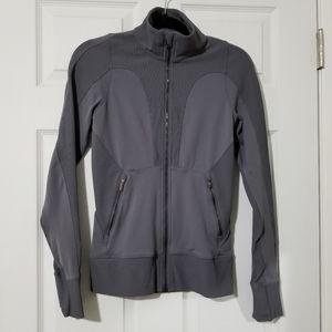 Lululemon Grey Ribbed Full Zip Jacket Size 6